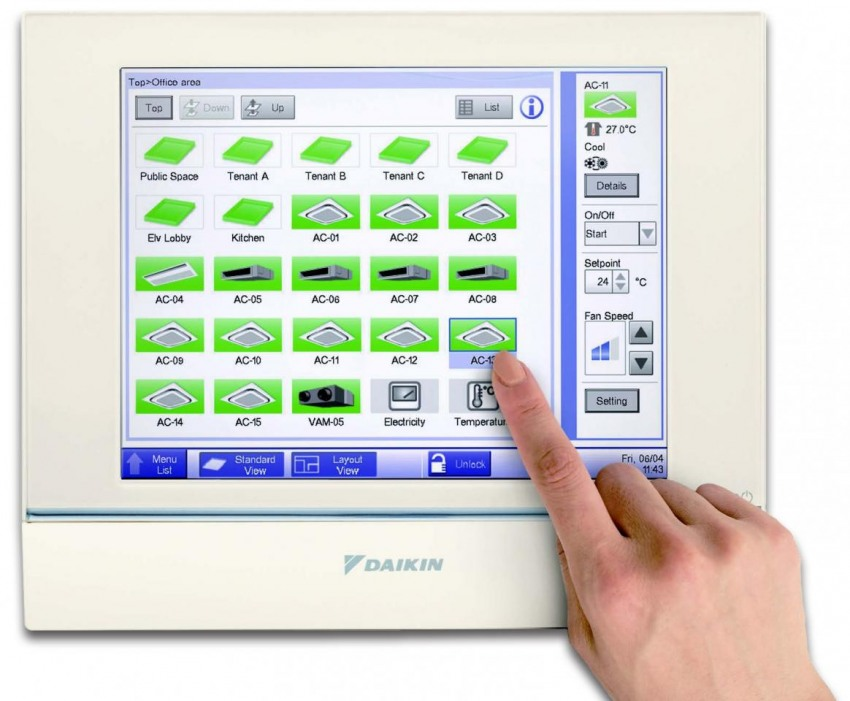 Intelligent Touch Manager на Daikin